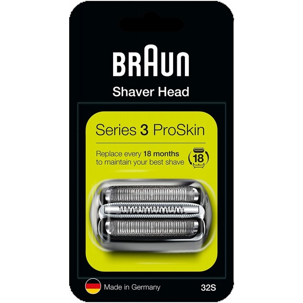 Braun 32S New Series 3 Silver Cassette Foil and Cutter Blade