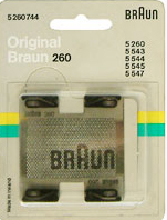Braun 260 Foil  Models for 5260. 5260744