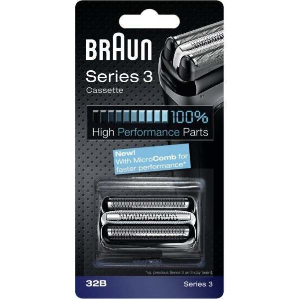 Braun 32B New Series 3 Black Cassette Foil & Cutter Blade