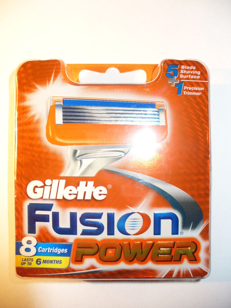 Gillette Fusion Power 8 Cartridges New 5 Razor Blades / Trimmer