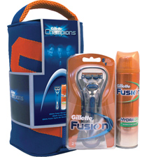 Gillette 96318 Fusion Razor & Balm Travel Wet Shaving Set