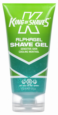 King of Shaves Alpha Shave Sensitive Skin Cooling Menthol 150 ml Shaving Gel