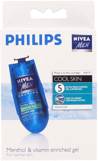 Philips HQ171 5 x sachets Coolskin Nivea Cool Gel Shaving Balm