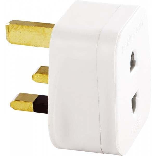 shaver-spares mains plug 3 pin to 2 pin converter adaptor
