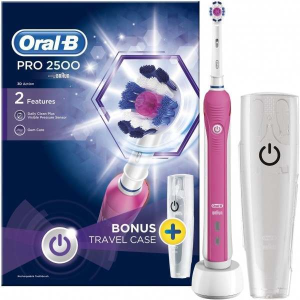 Oral-B Pro 2500 3D Action Pink Electric Toothbrush