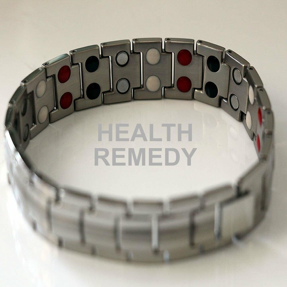 New Silver Titanium Health Bracelet Jewellery Energy Boost Healthier Living Bio