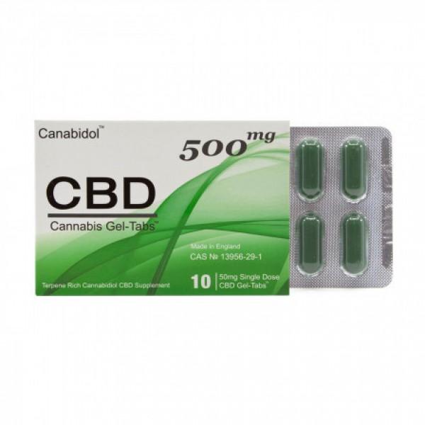 100% Canabidol GEL-TABS 500mg