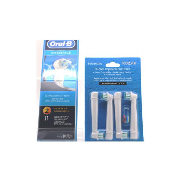 Braun Oral-B IP17-2 Interspace Tip Heads and 4 ROZAR Heads
