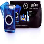 Braun M60 Battery Shaver and Travel Essentials Gift Pack