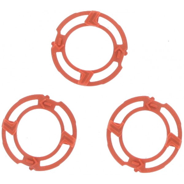 Philips (pack of 3) ORANGE Plastic Locking Plate Washers