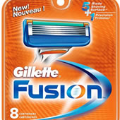 Gillette Fusion 8 Cartridges new 5 Razor Blades + Trimmer